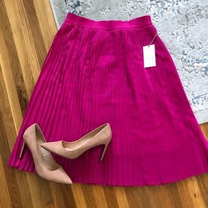 A New Day  fandango skirt midi pleated pink NWT